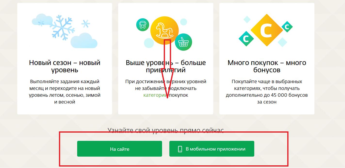 В самом низу необходимо выбрать, где Вы хотите узнать уровень на сайте или в мобильном приложении;